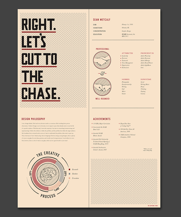 https www behance net gallery 810562 the cv publication cv