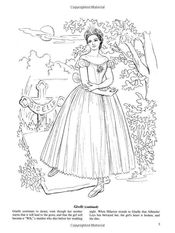 Favorite Ballets Coloring Book (Dover Fashion Coloring Book): Brenda Sneathen Mattox ...
