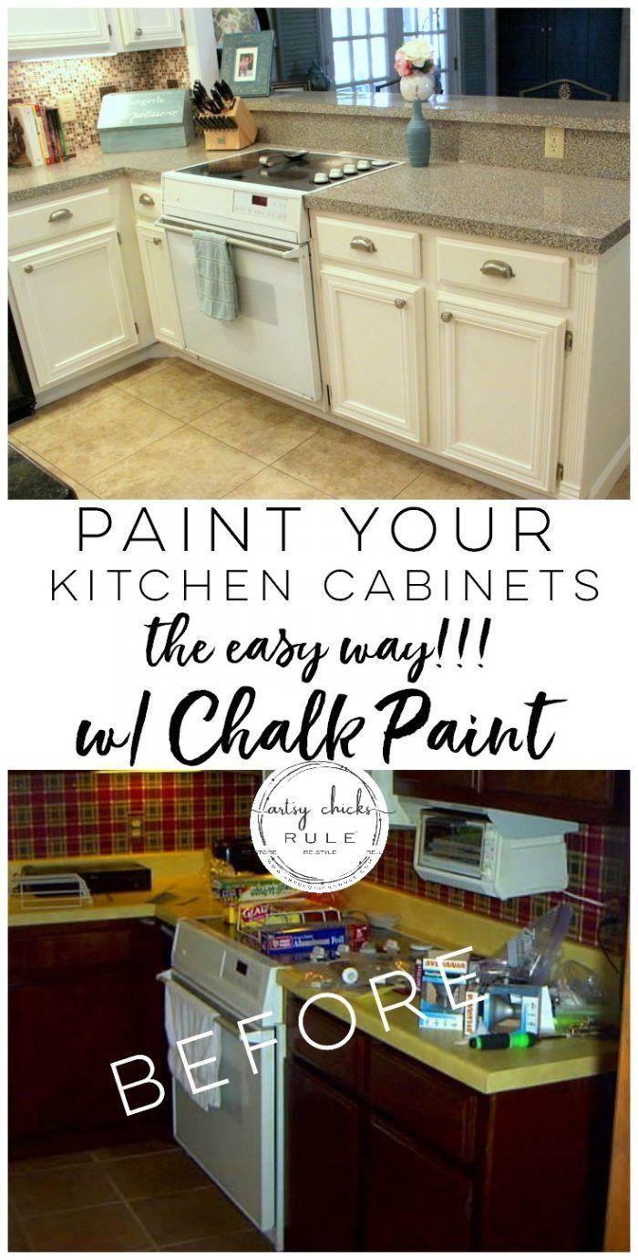 Kitchen cabinet makeover annie sloan chalk paint kitchen hacks