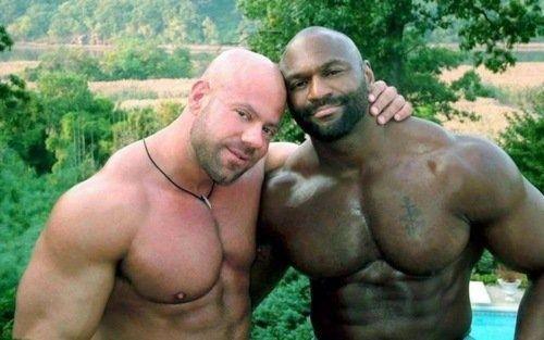 Gay interracial muscle