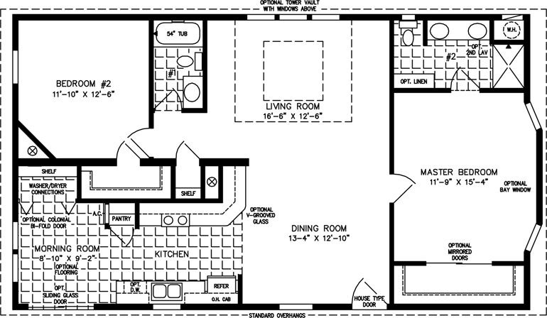 Manufactured Home Floor Plan The T N R Model TNR4463B