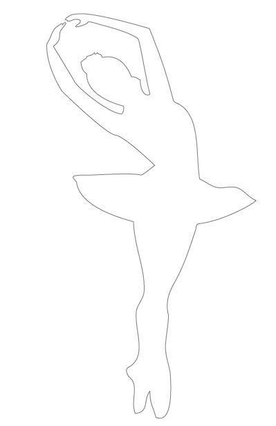 silueta de bailarina para imprimir - Pesquisa Google | Aniversário ...