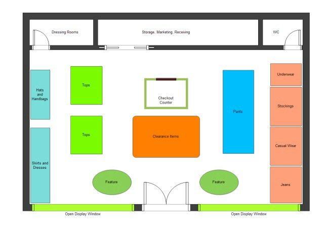 Botique Layout Plan Store Plan Retail Store Layout Floor Plan Layout