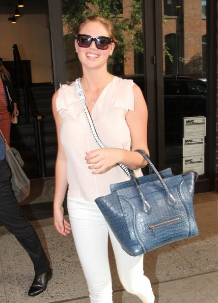 Kate Upton leaves Milk Studios on June 24, 2014 in New York City