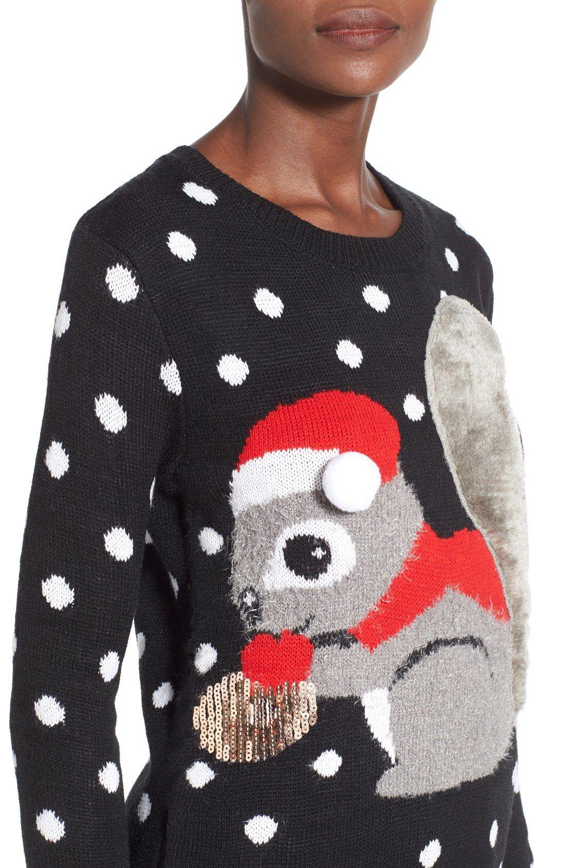 Darling Squirrel Christmas Sweater | City Sidewalks | Pinterest ...