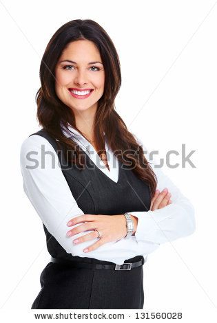 Portrait Of Happy Young Business Woman Isolated On White Background By Kurhan Via Shutterstock In 2020 Business Women Women Fashion