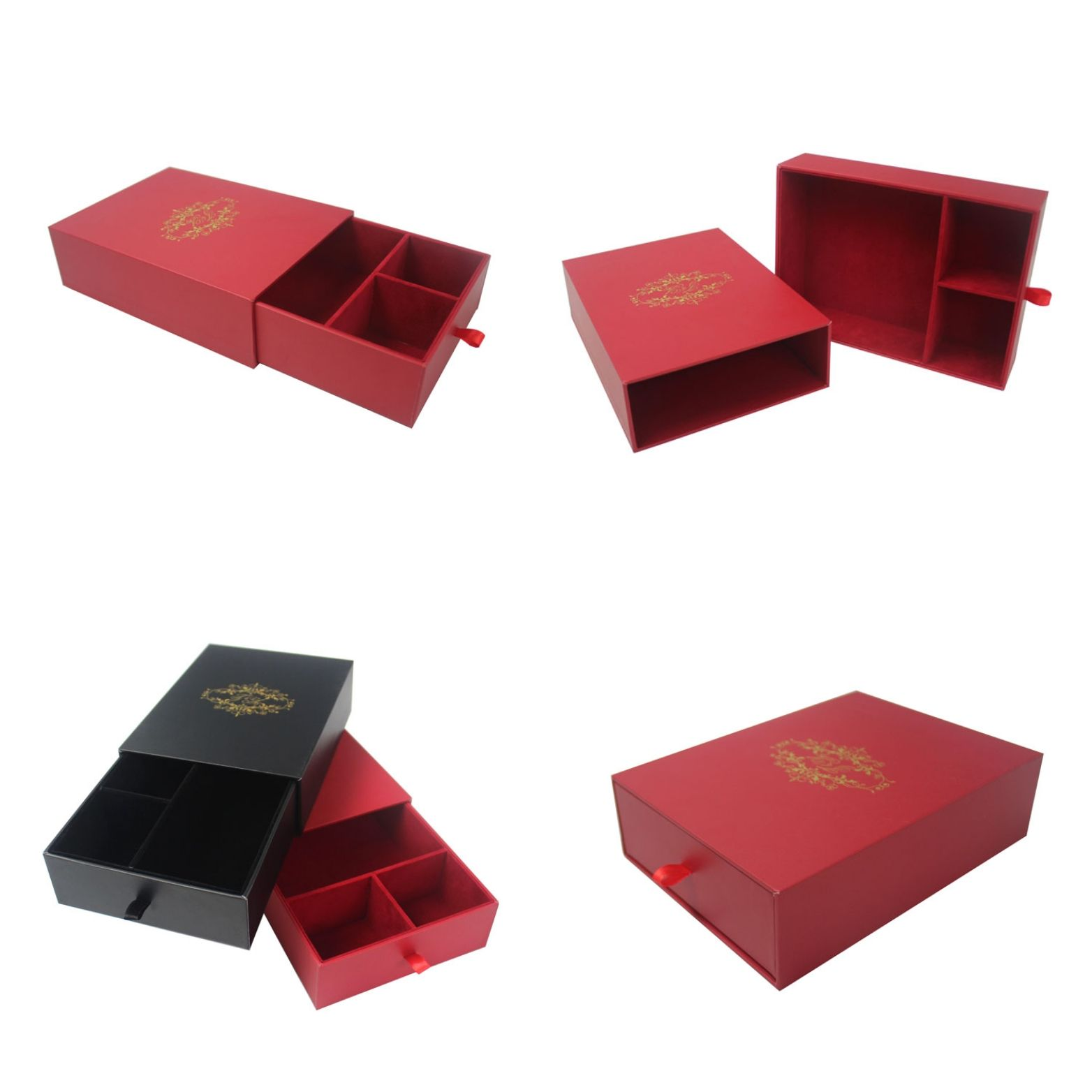 2aa1cedc273 Premium handmade cardboard drawer style gift box with velvet lining and  multi compartments, suitable for kinds of valued gifts article packaging!