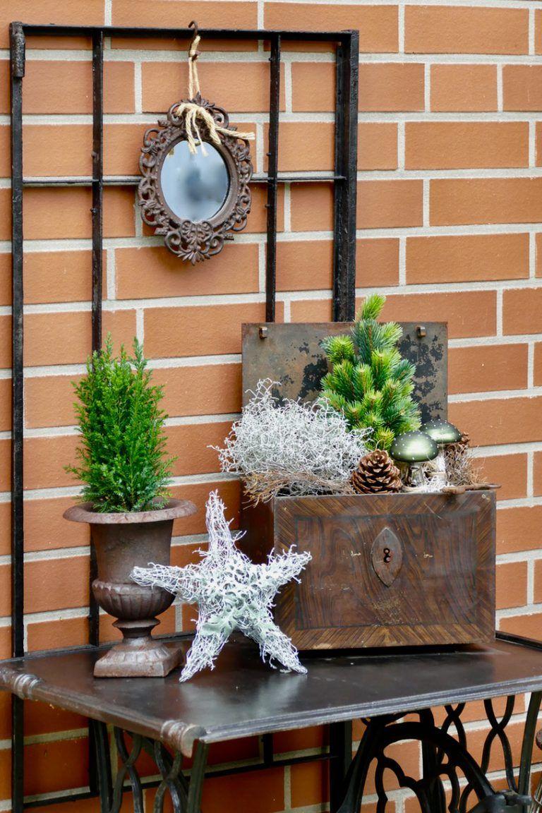 winterdeko im au enbereich deko zuhause weihnachtsdeko. Black Bedroom Furniture Sets. Home Design Ideas