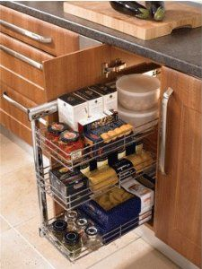 Individual Side Mounted Pull Out Baskets Kitchen Cuboard Storage