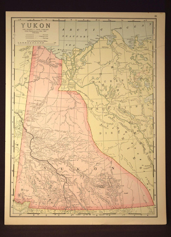 Yukon map yukon antique gold regions river original maps pinterest yukon map yukon antique gold regions river original gumiabroncs Gallery