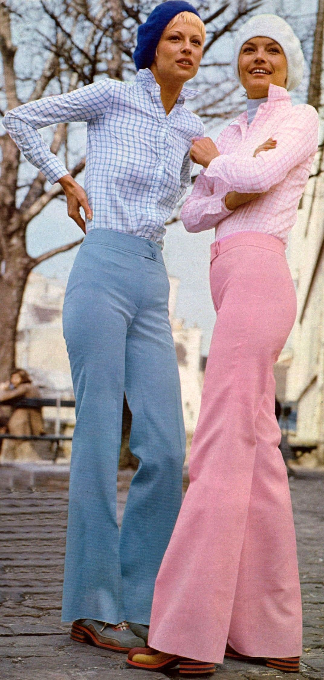 High waisted trousers 1972. I need a pair of these in my life ...