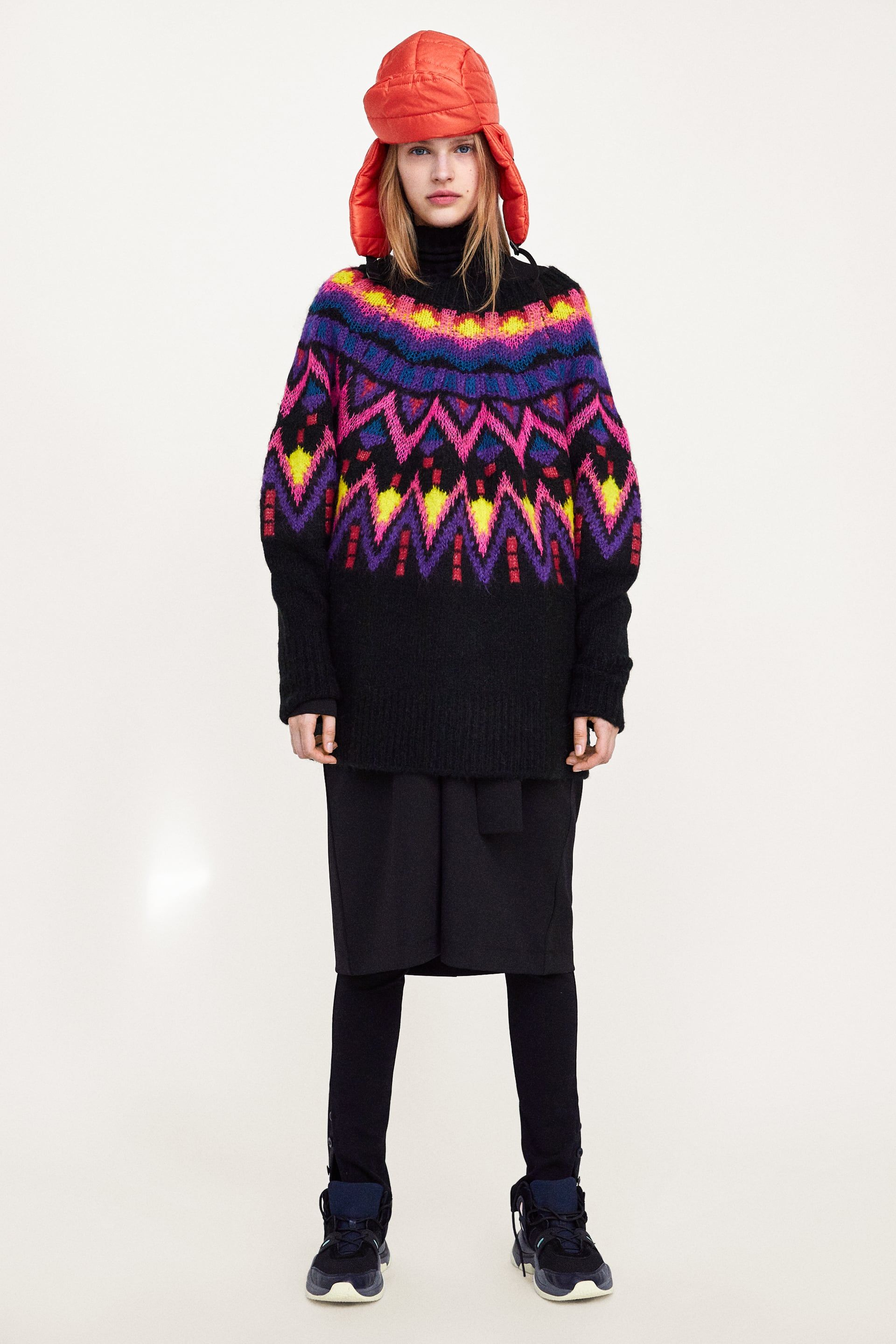 c57102c0d814 JERSEY OVERSIZE JACQUARD in 2019 | 临时素材 | Oversize pullover ...
