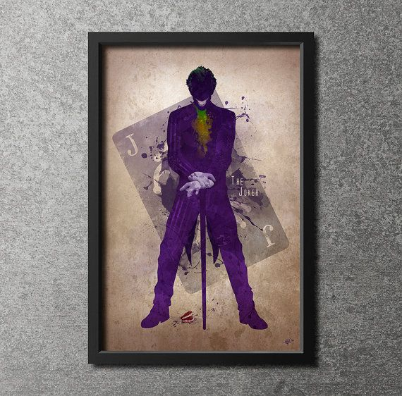 Hey, I found this really awesome Etsy listing at https://www.etsy.com/listing/191832049/original-giclee-art-print-the-joker