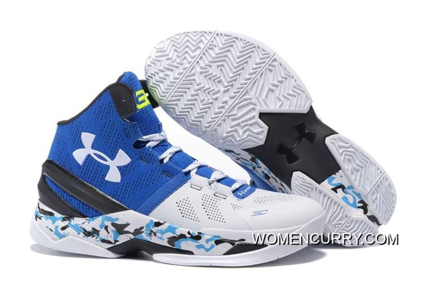 "2faac5cfc740 Camo"" Under Armour Curry 2 White Blue Black New Style in 2019 ..."