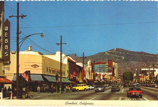 Downtown Shopping Webb S And Woolworth S Department Stores Etc Glendale Federal Savings Is In The Background Glendale California Glendale Los Angeles Area