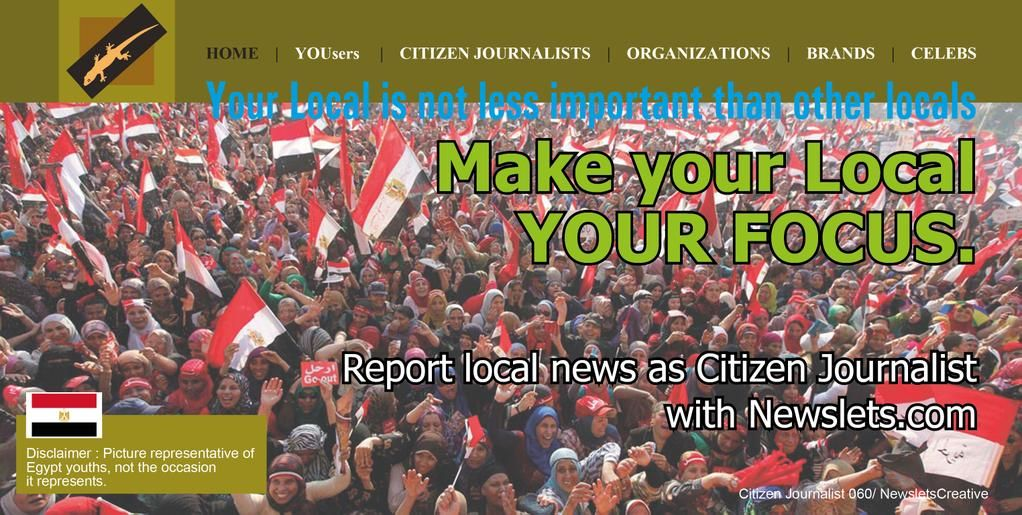 Hello Egyptian Youths, Do #CitizenJournalism as #CitizenJournalist with http://Newslets.com info@newslets.com