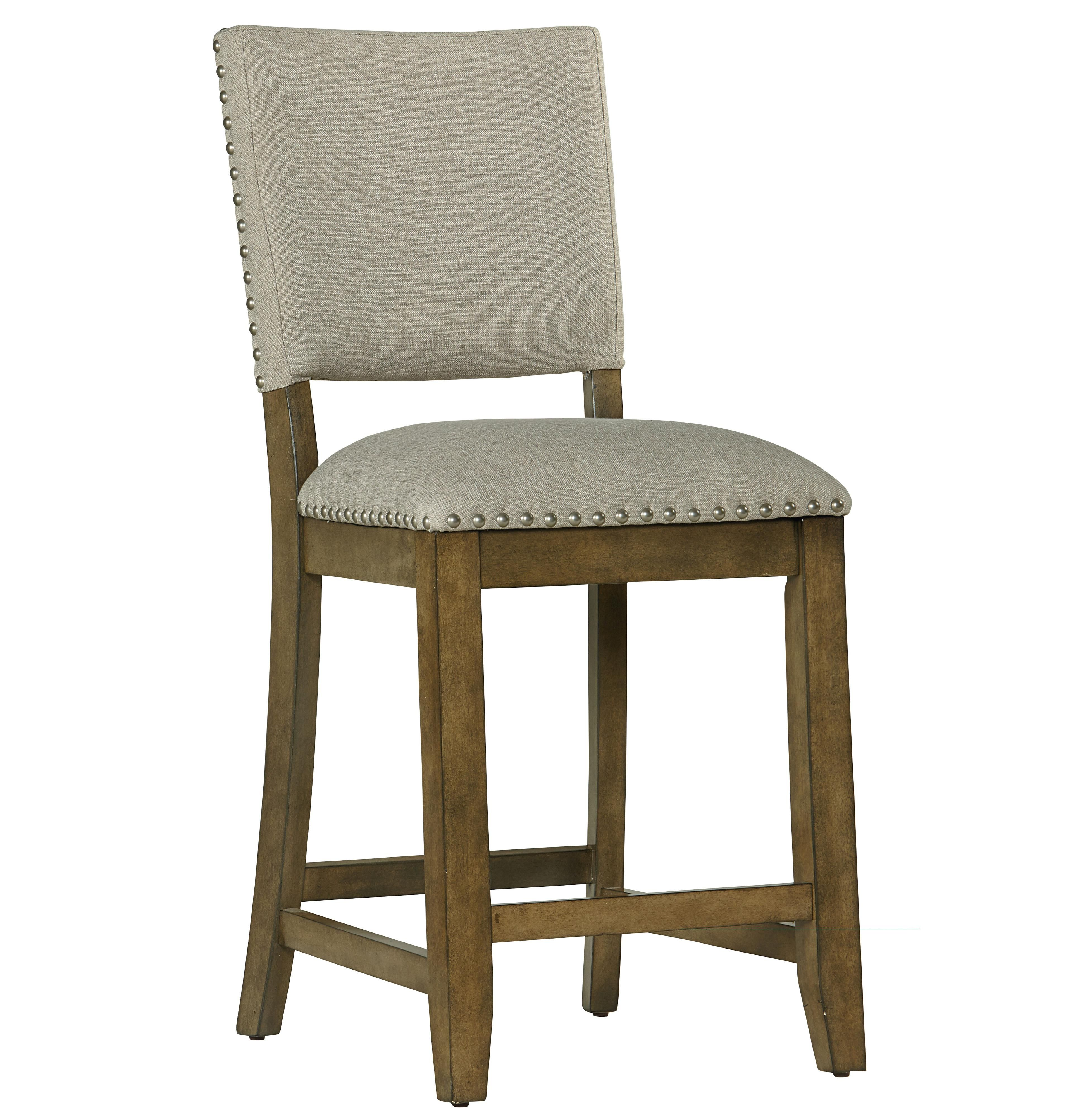 Omaha Grey Bar Stool By Standard Furniture