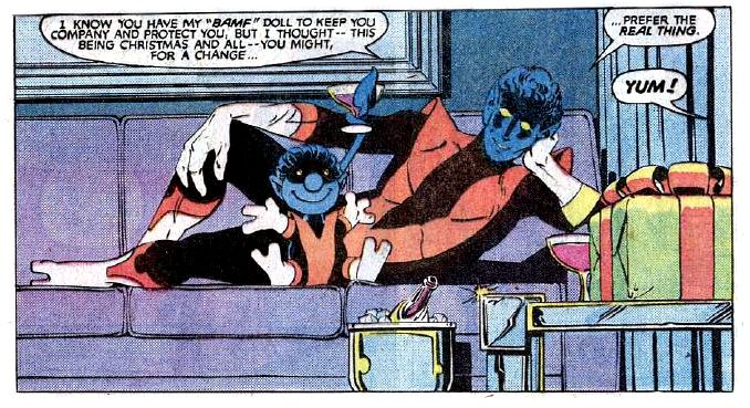 Nightcrawler bamf doll from Uncanny X-Men #168 (Apr 1983)
