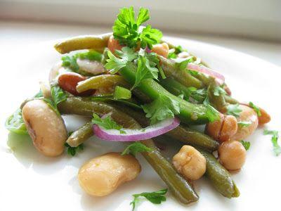 kasvisruokaa: Juhlava papusalaatti