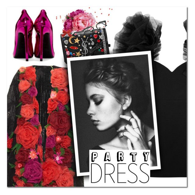 """""""Perfect Party Dress II"""" by vampirella24 ❤ liked on Polyvore featuring Diane James, RetroSuperFuture, Yves Saint Laurent and Dolce&Gabbana"""