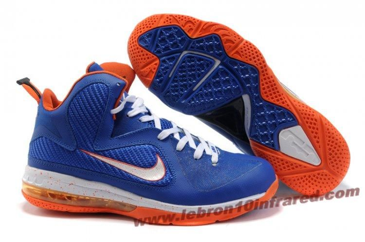 best service c54d4 186e4 Nike Lebron 9 NBA Shoes Blue White Orange