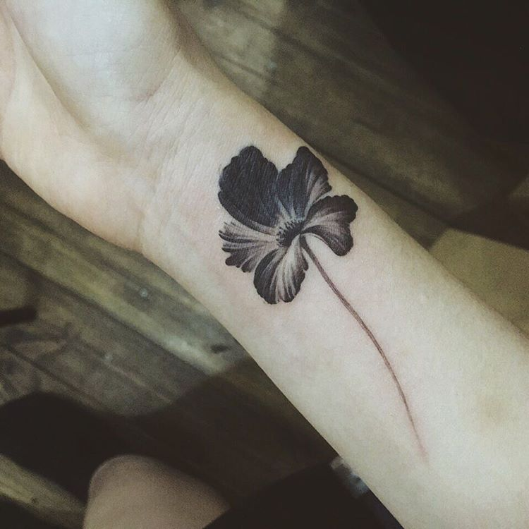 Cover-up Tattoo, Black Flower #tattoo #tattooistdoy