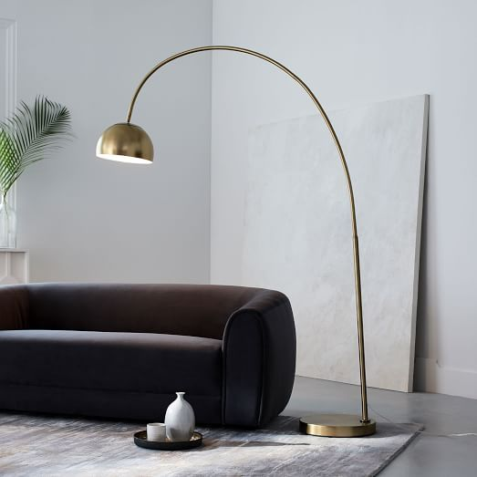 Overarching Metal Shade Floor Lamp Overarching Floor Lamp West Elm Floor Lamp Cool Floor Lamps