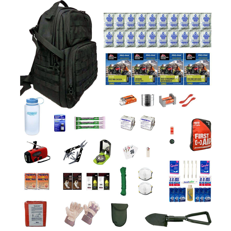 Urban Survival Kit Deluxe Two For Earthquakes, Hurricanes, Floods, Tornados, Emergency Preparedness