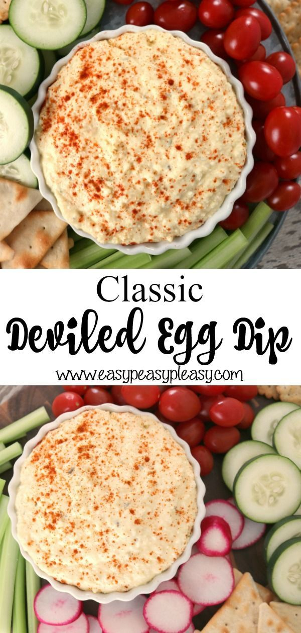Classic Deviled Egg Dip For Any Occasion - Easy Peasy Pleasy