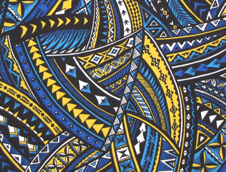 Modern tattoo, Hawaiian fabric. Check it out at ...