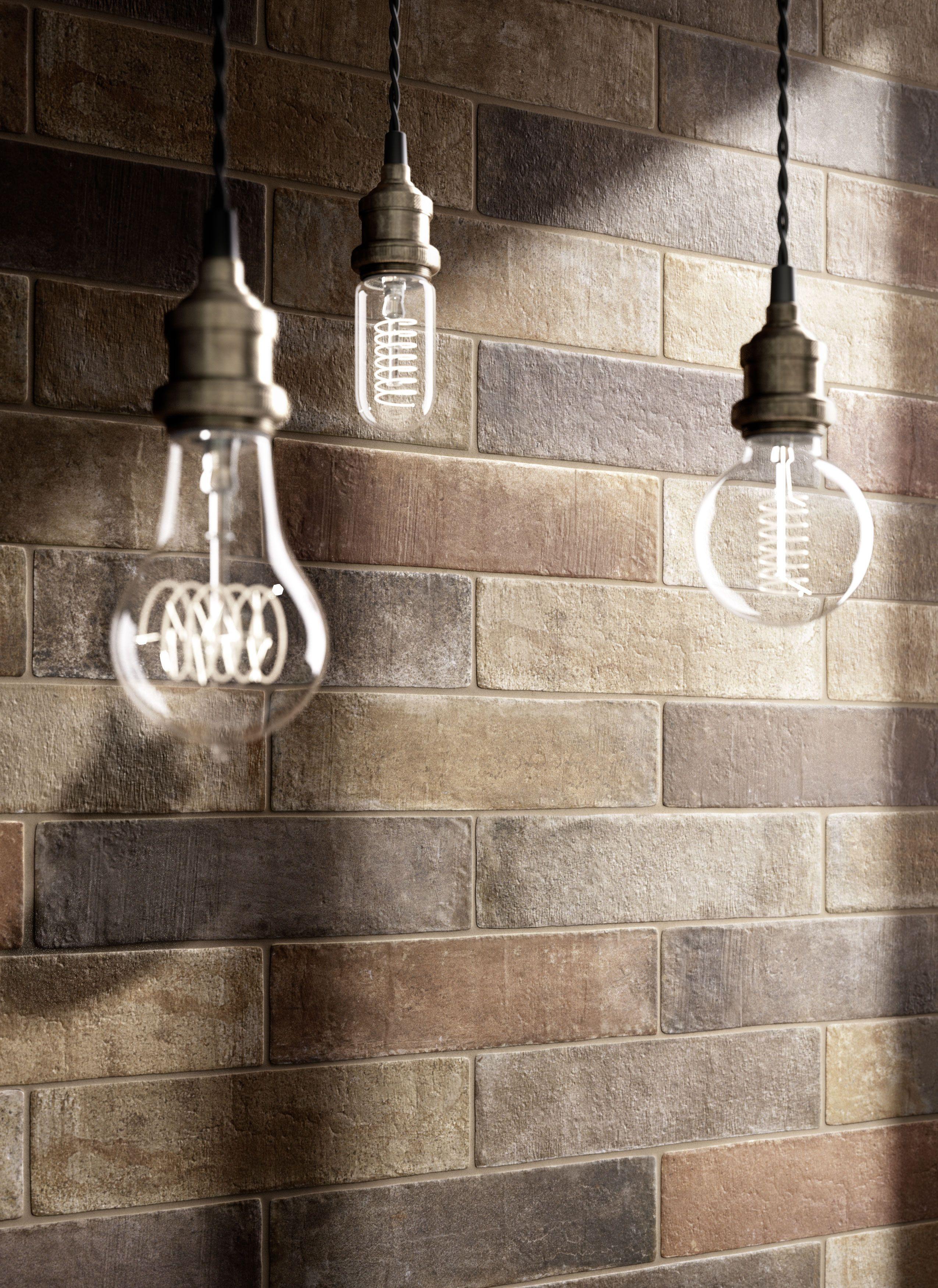 Terramix brick effect porcelain stoneware marazzi for Piastrelle da parete