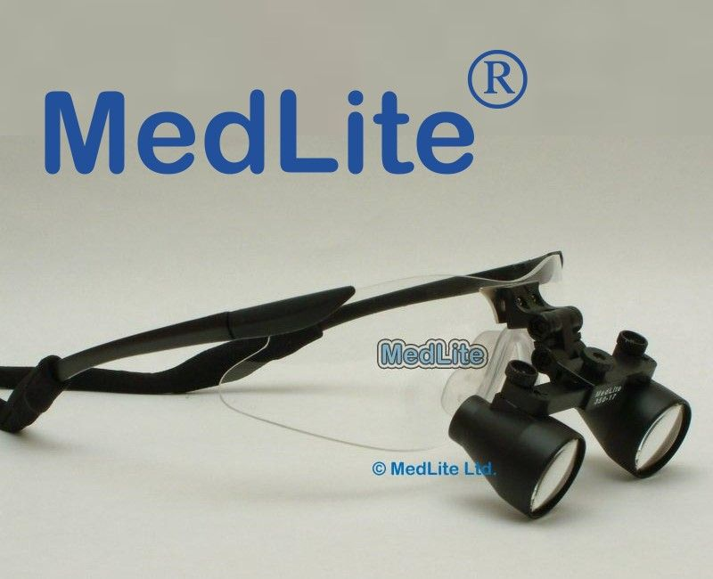 Dental Surgical Loupes LED Loupe Light MedLite USA, Factory Direct 1-Day Shipping World Wide MedLite Dental Loupes and Surgical Loupes  $330 3.5x