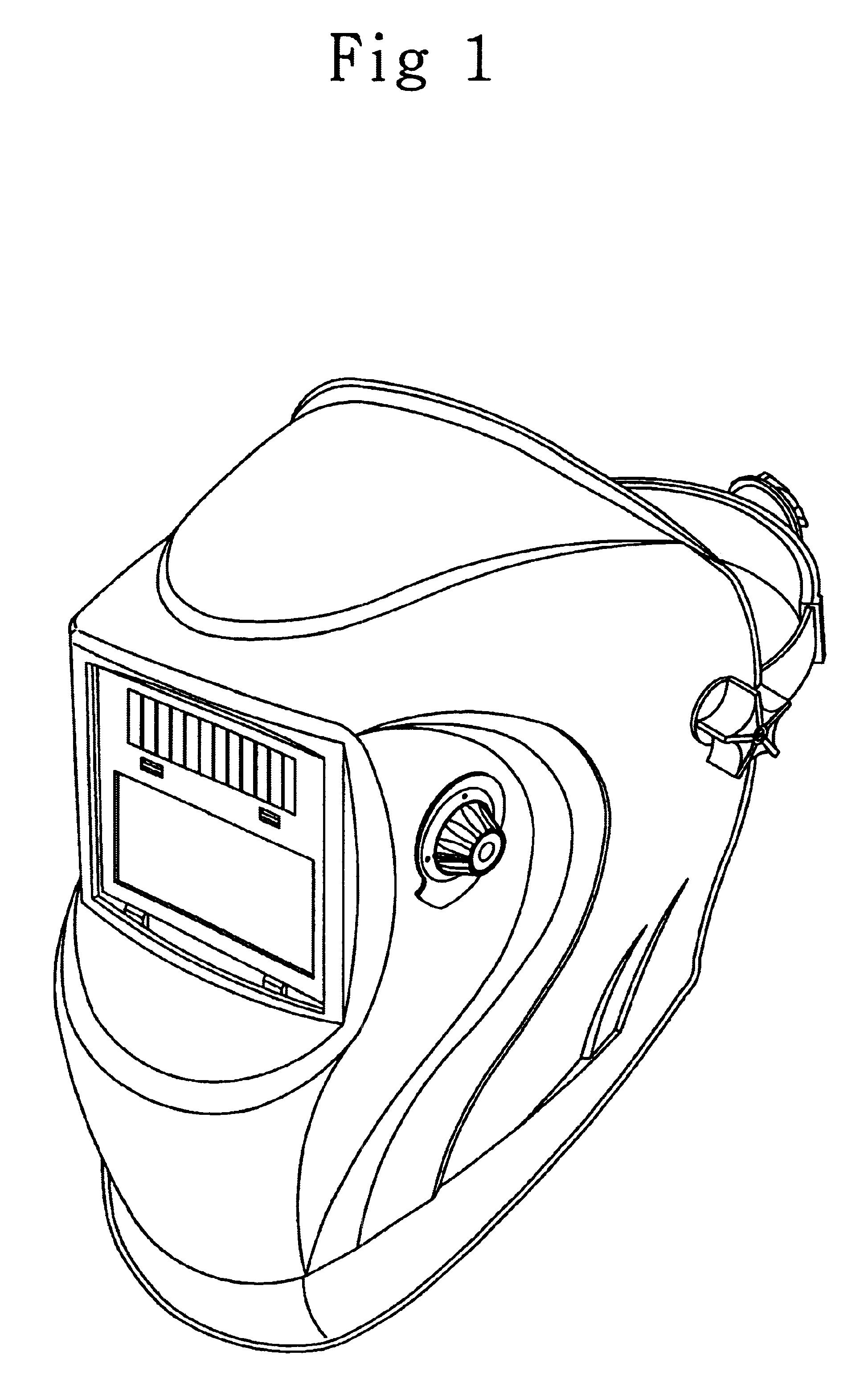 Welding Helmet Drawing