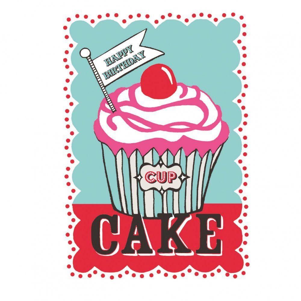Happy Birthday Cupcake Card Card Pinterest – Cupcake Birthday Cards