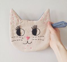 I love this Le Chat Handmade Embroidered Cat