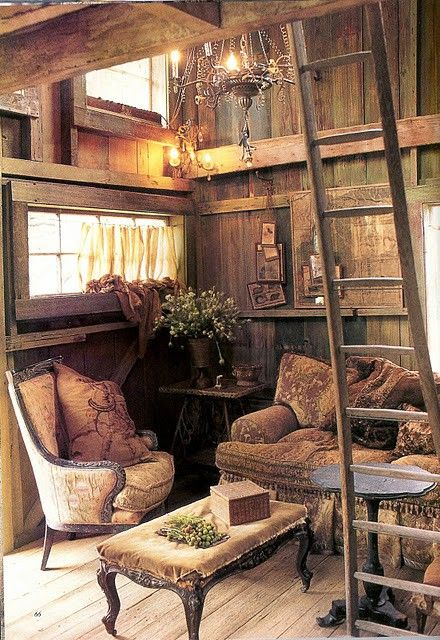Shabby chic log home decor images