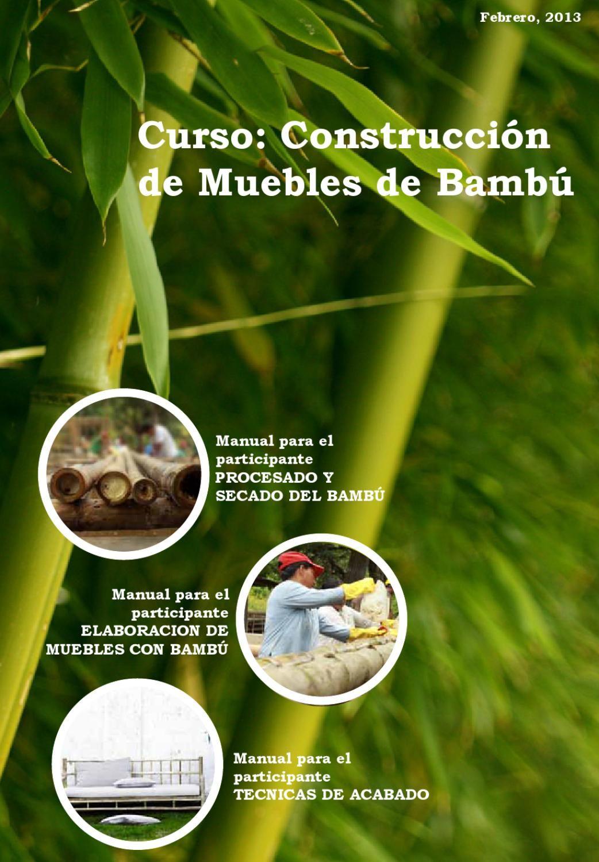 Manual De Construcci N De Muebles De Bamb Muebles De Bamb  # Muebles Debambu