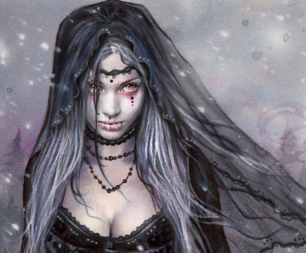Dark Beautiful Dark Fantasy Girl Art