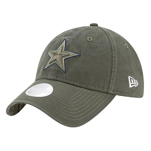 official photos 63493 8f559 ... clearance dallas cowboys new era salute to service womens on field  9twenty cap 49724 b9d06