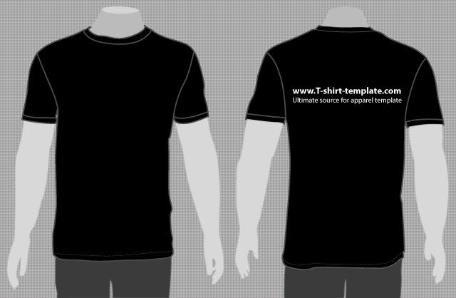 Download Vector Model T Shirt Template Front Back T Shirt Template Desain