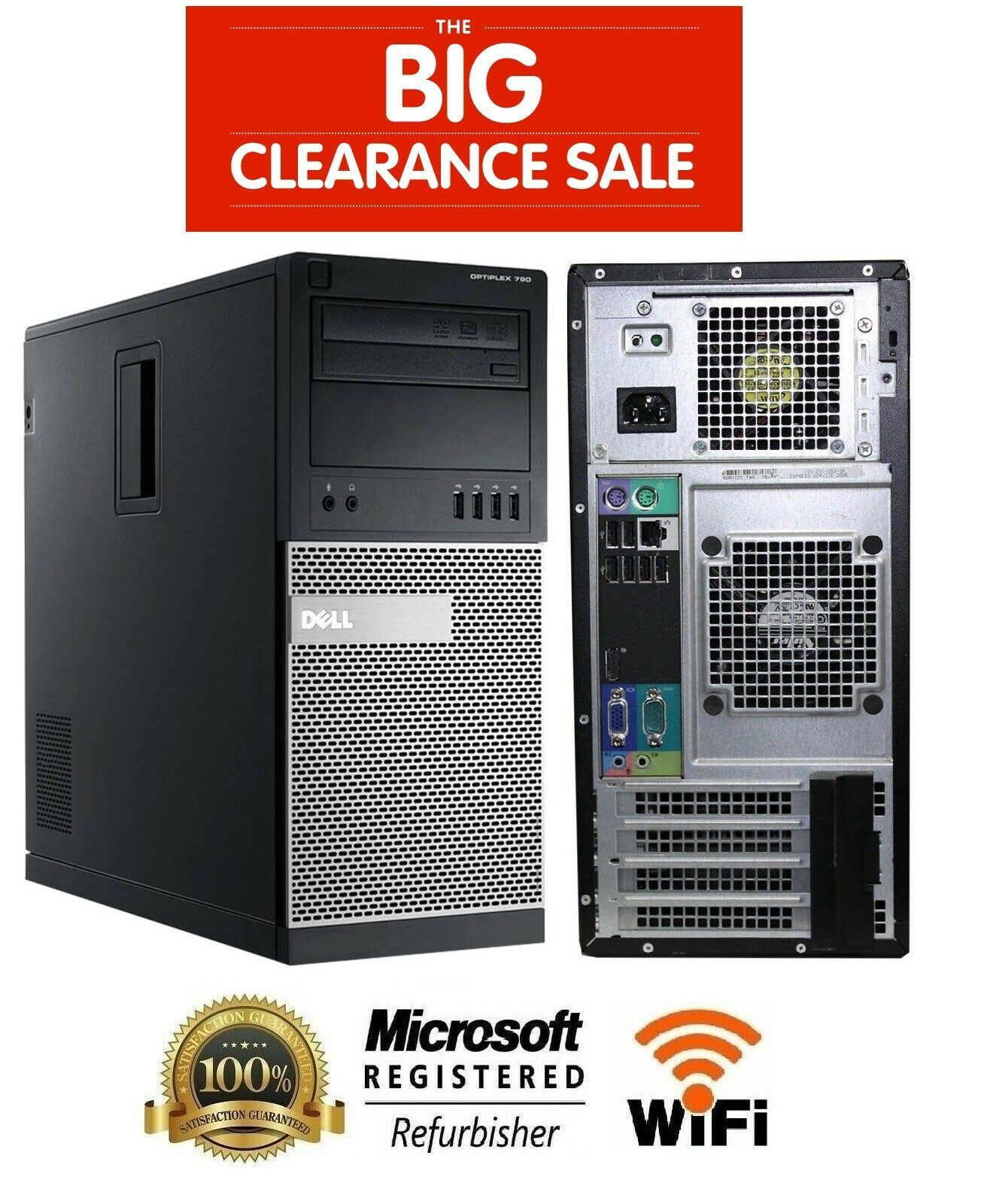 Business Class Dell OptiPlex 790 MT Core i3 Windows 7 2TB