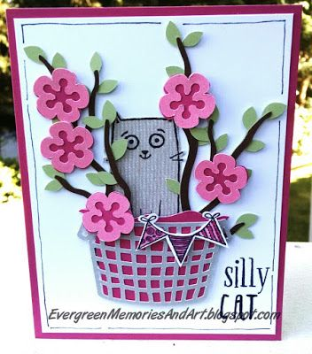 Evergreen Memories: August Stamp of the Month Blog Hop: Purr-fect Halloween