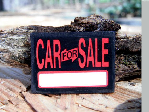 Miniature Car for Sale Sign by LDelaney on Etsy Car Dealership - car for sale sign printable