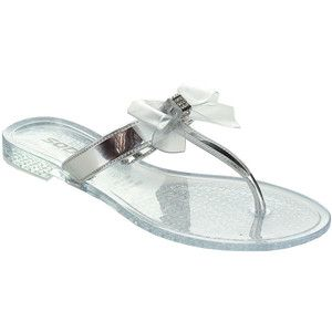 e9a3aacd92c759 Soda Gel Women s Rhinestone Bow Jelly Flip-Flop Thong Sandals ...