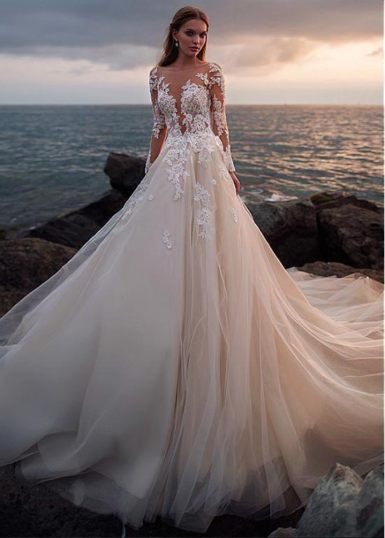 Hochzeitskleid Spitze | Hochzeitskleid spitze, Brautmode ...