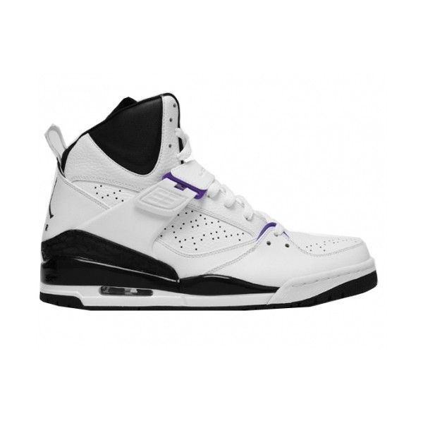 pick up a1cbd 12a44 Jordan Flight 45 High White Varsity Purple Black found on Polyvore
