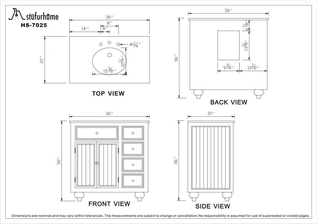 Bathroom Vanity Sizes, Standard Dimensions Bathroom Vanity