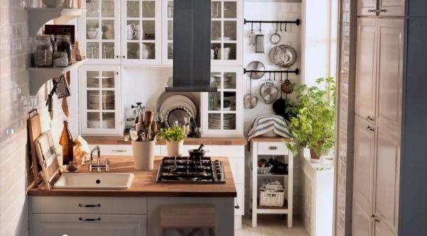 Landhaus-Stil Küche Ikea Küche in Grau Pinterest Kitchens - küche ikea landhaus