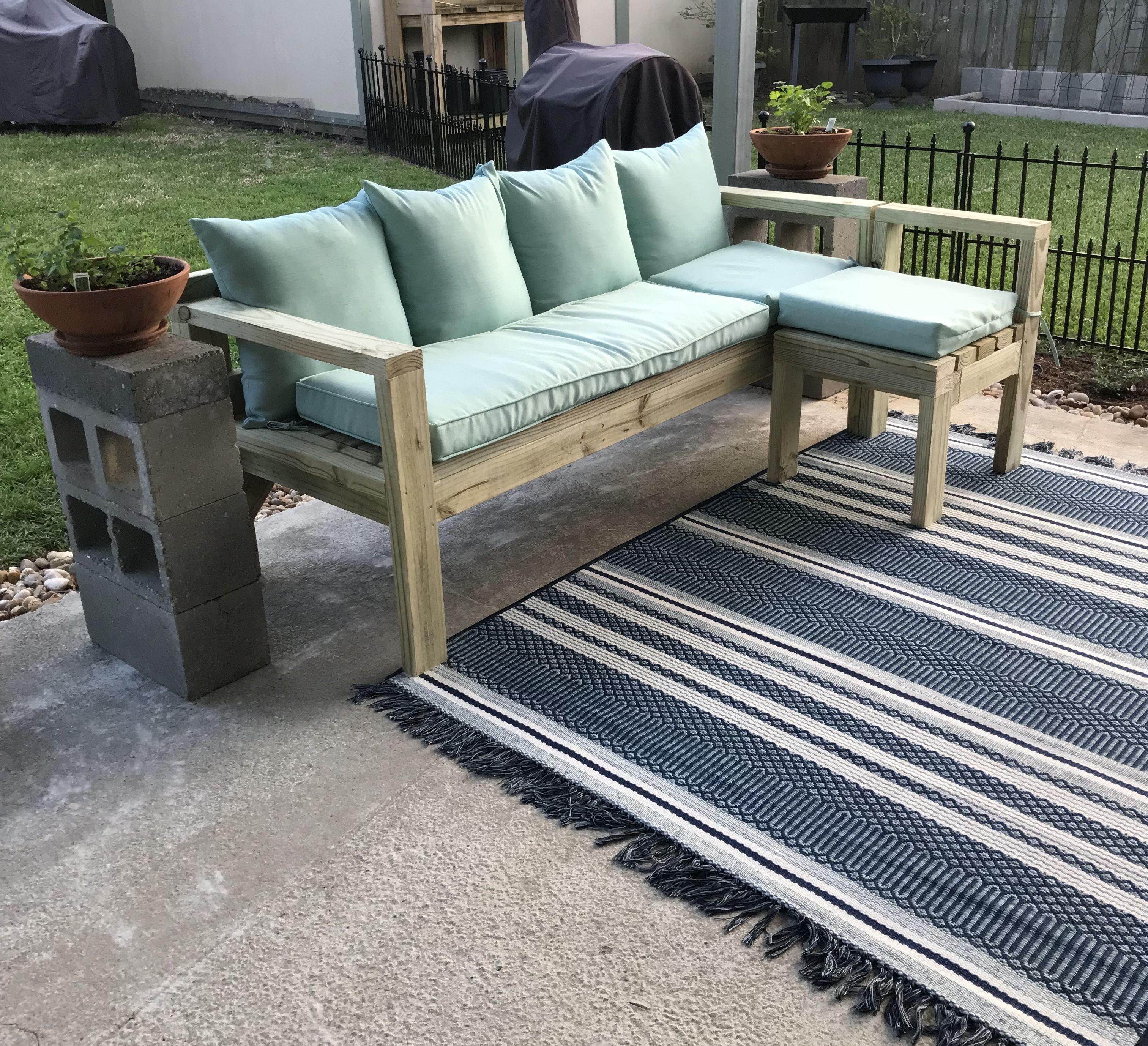 DIY 2x4 sectional (With images) Outdoor sectional sofa
