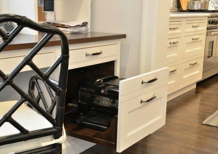 Drucker im Schrank | Arbeitszimmer | Pinterest